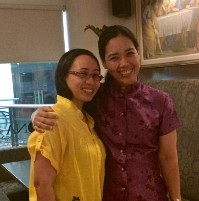 With Veron in a best practice sharing session in Alabang.