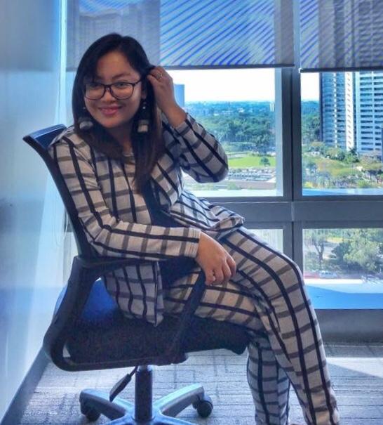 Abby Edic-Cruz in the office.
