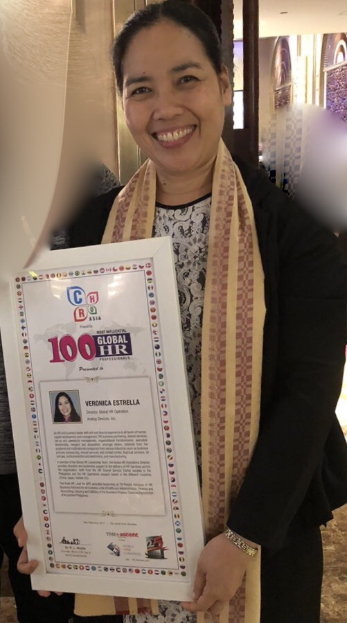 100 Most Influential Global HR Professionals Awardee, 2017