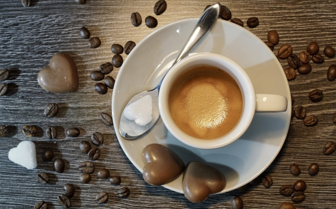 Heart-shaped Chocolates and Coffee. Image from Pixabay.