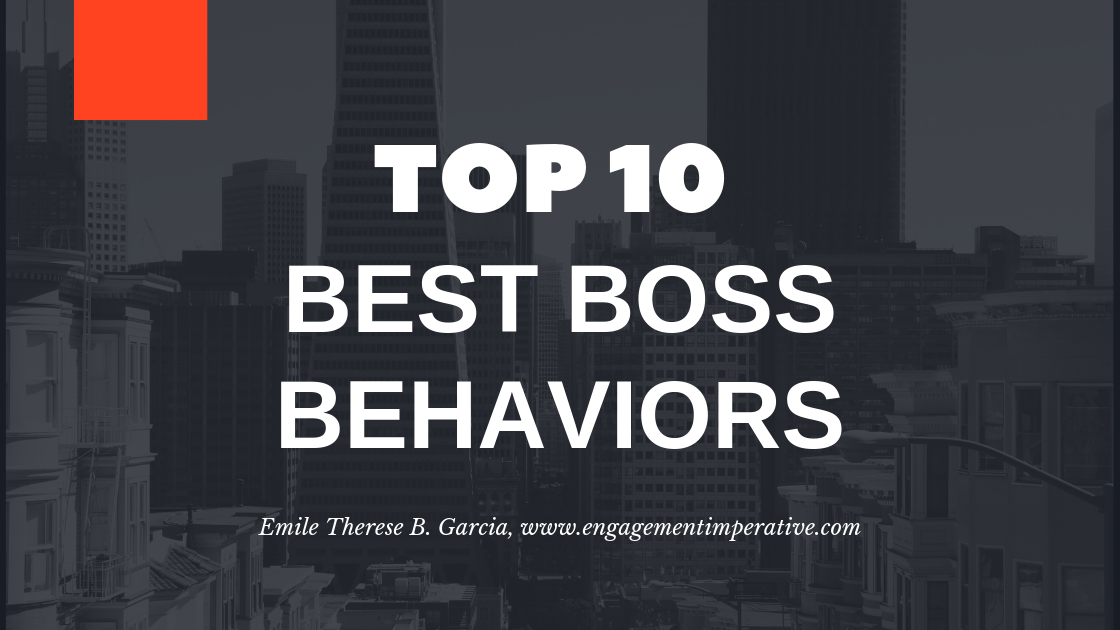 Top 10 Best Boss (Leader) Behaviors