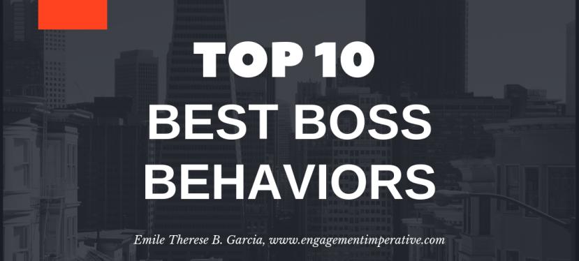 Top 10 Best Boss (Leader)Behaviors